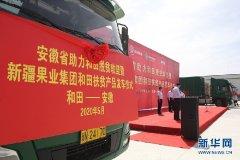 安徽省助销新疆和田地区滞销农副产品集中发车仪式举行